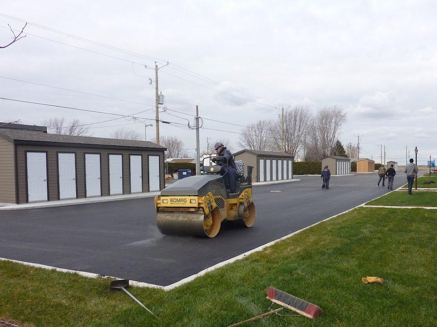 Pose d'asphalte condominiums à Saint-Hyacinthe