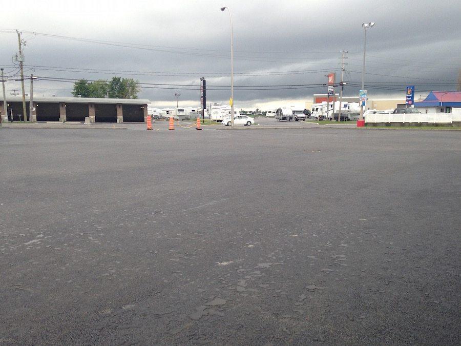 Projet d'asphaltage commercial à Saint-Hyacinthe